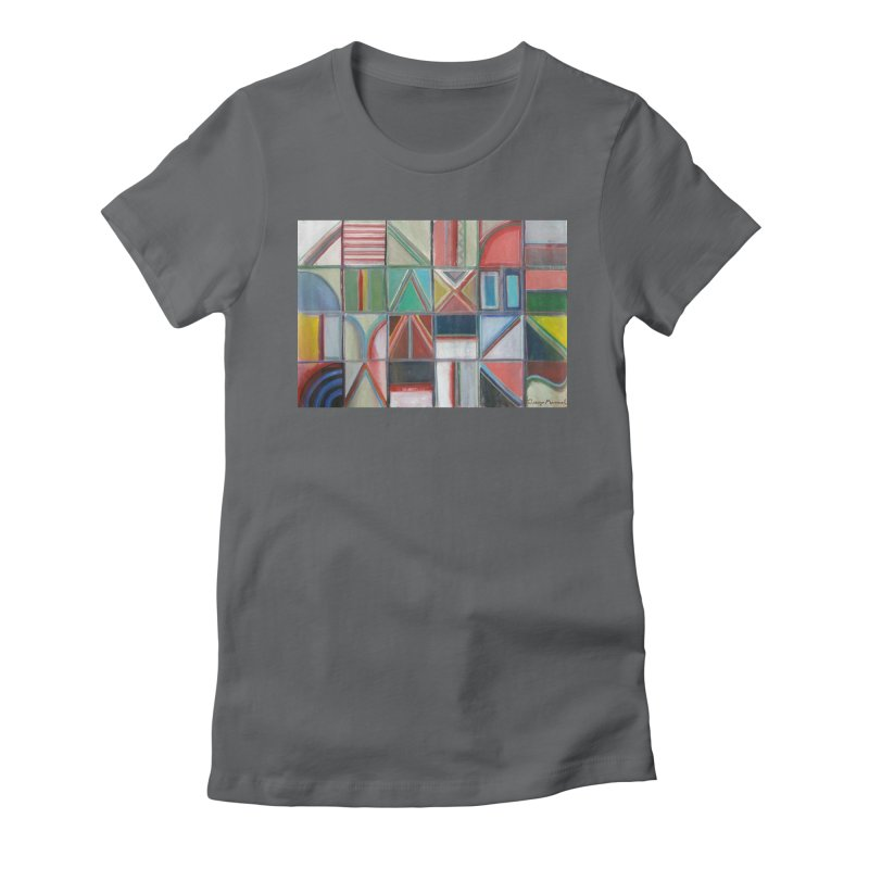 Text Women's Fitted T-Shirt by diegomanuel's Artist Shop