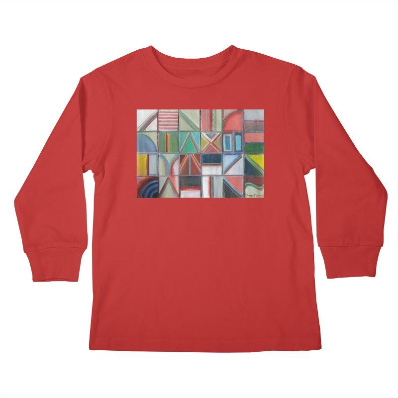 Text Kids Longsleeve T-Shirt by diegomanuel's Artist Shop