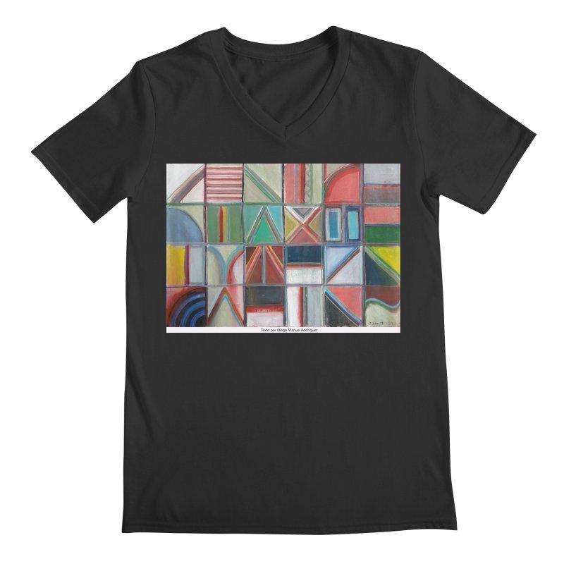 Texto Men's V-Neck by diegomanuel's Artist Shop
