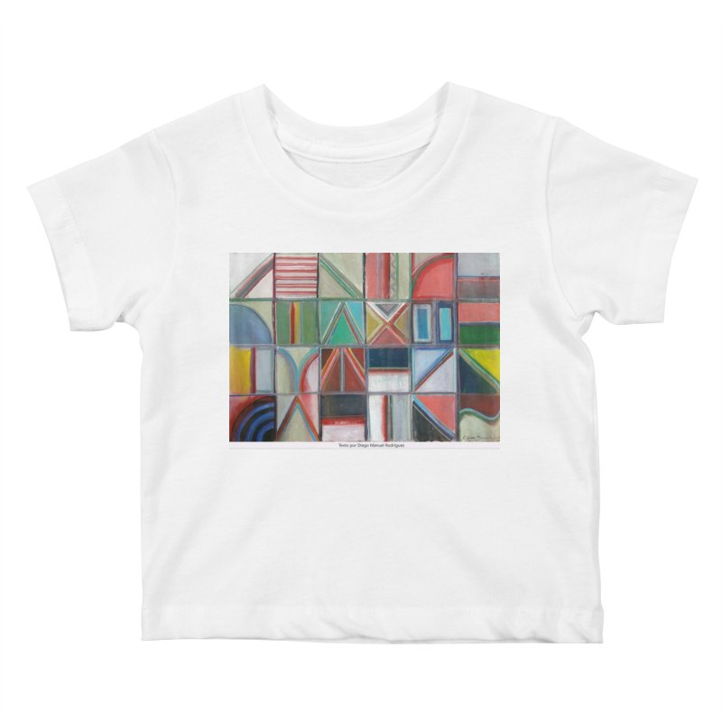 Texto Kids Baby T-Shirt by diegomanuel's Artist Shop
