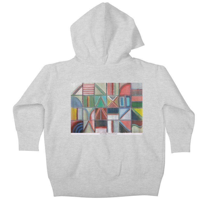 Texto Kids Baby Zip-Up Hoody by diegomanuel's Artist Shop