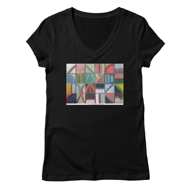 Texto Women's V-Neck by diegomanuel's Artist Shop