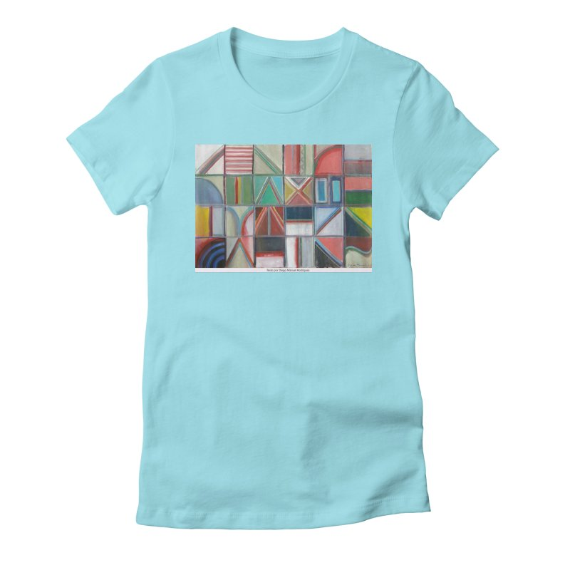 Texto Women's Fitted T-Shirt by diegomanuel's Artist Shop