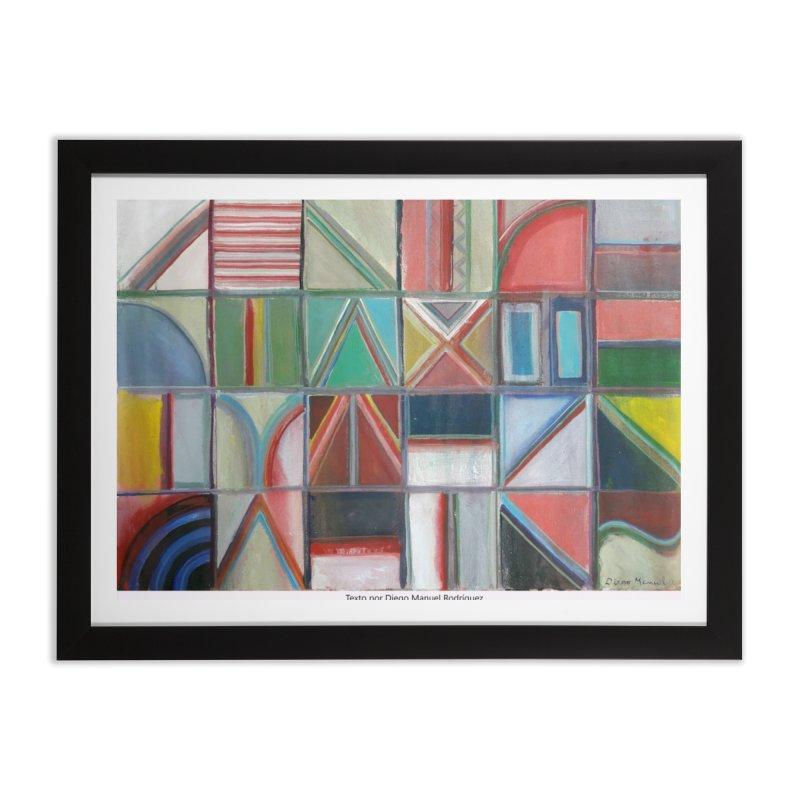 Texto Home Framed Fine Art Print by diegomanuel's Artist Shop