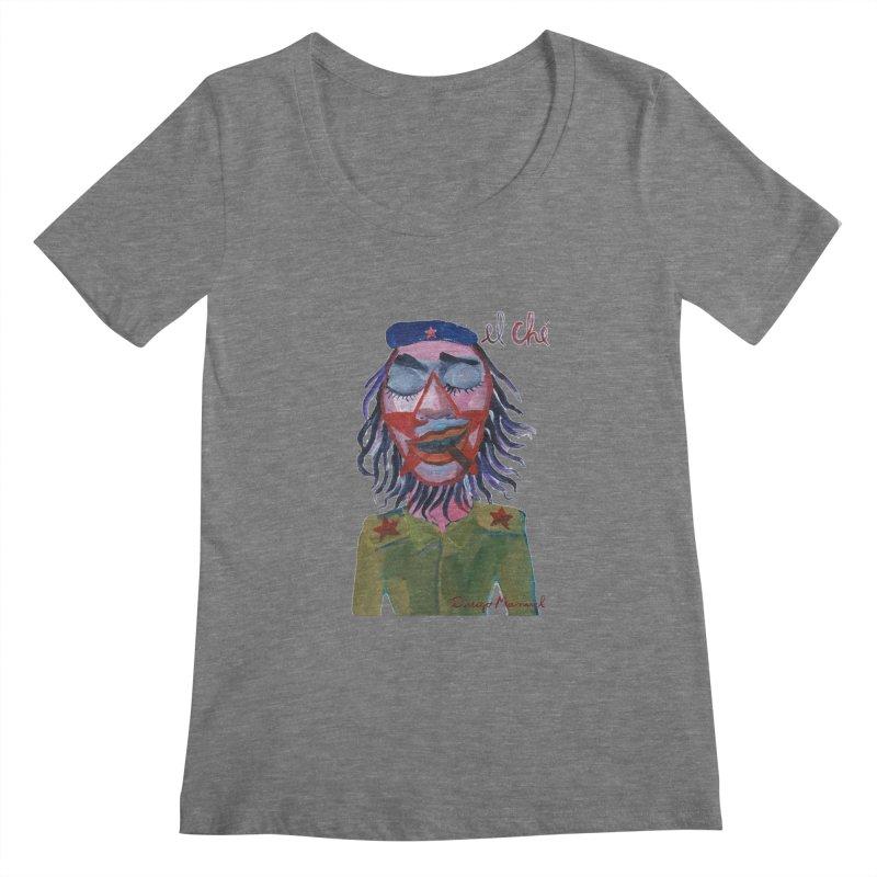 Che Guevara 3 Women's Regular Scoop Neck by diegomanuel's Artist Shop