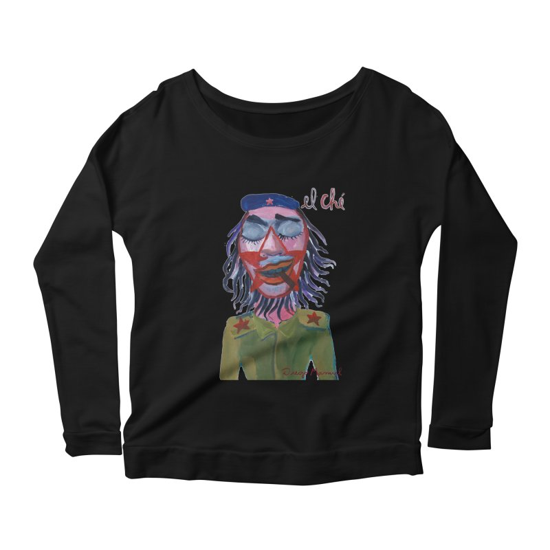 Che Guevara 3 Women's Scoop Neck Longsleeve T-Shirt by diegomanuel's Artist Shop