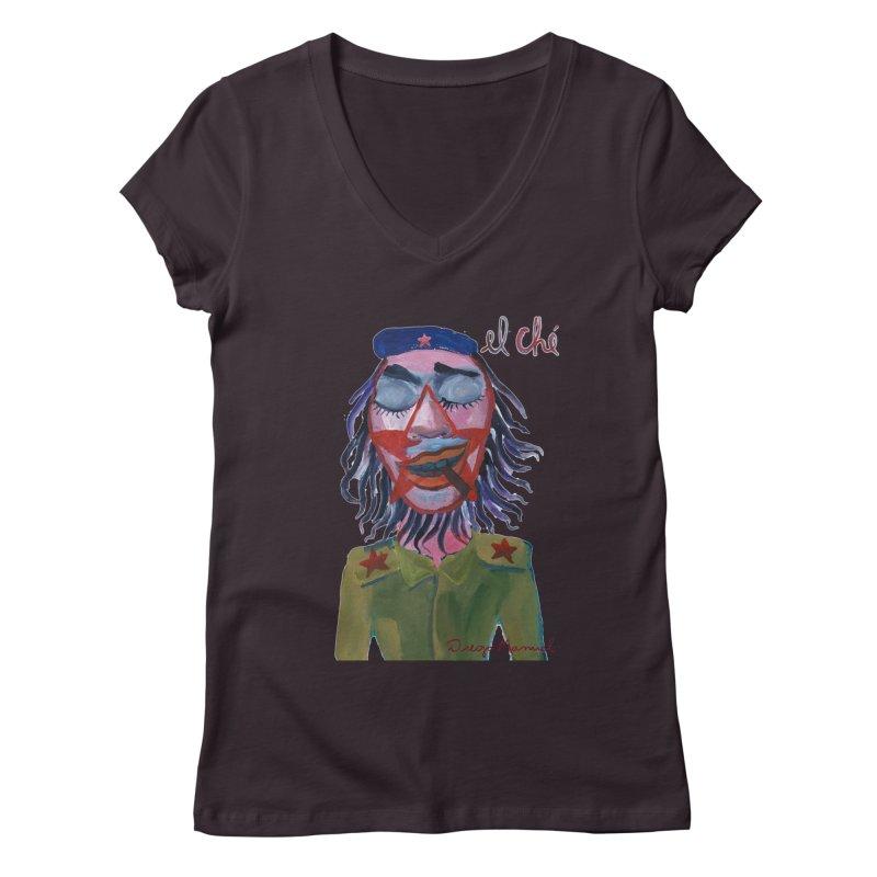 Che Guevara 3 Women's V-Neck by diegomanuel's Artist Shop