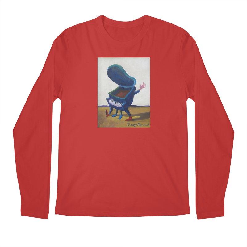 Small blue piano Men's Regular Longsleeve T-Shirt by diegomanuel's Artist Shop