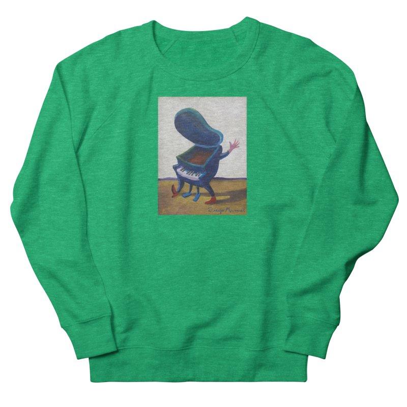 Small blue piano Women's French Terry Sweatshirt by diegomanuel's Artist Shop