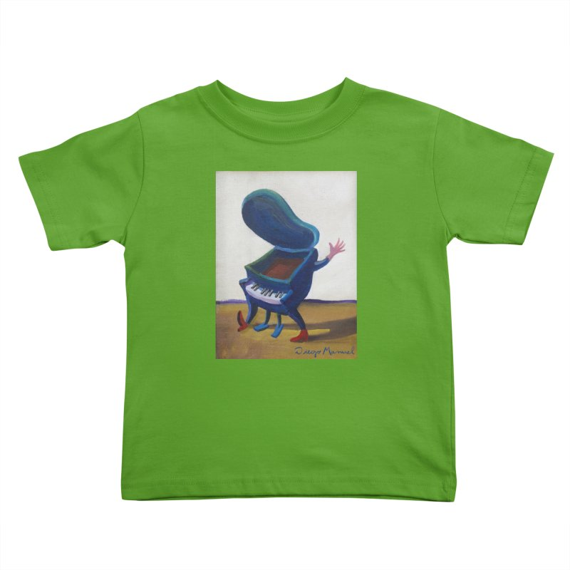 Small blue piano Kids Toddler T-Shirt by diegomanuel's Artist Shop