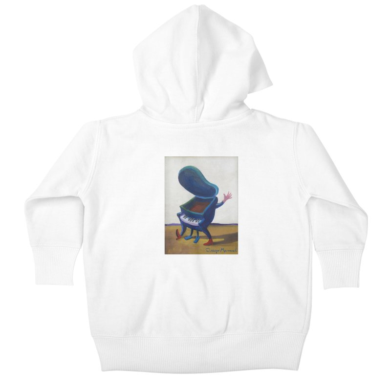 Small blue piano Kids Baby Zip-Up Hoody by diegomanuel's Artist Shop