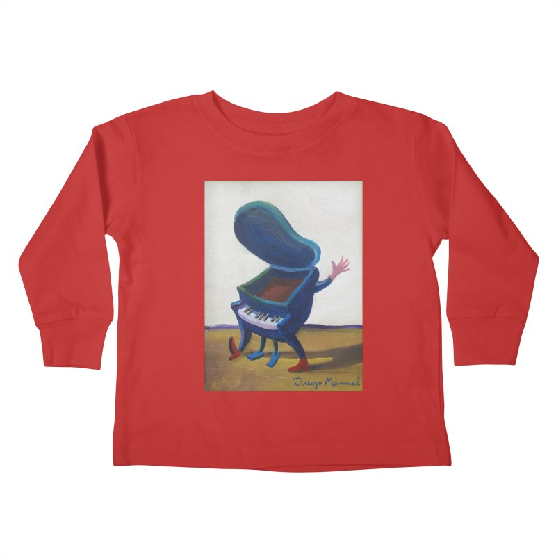 Small blue piano Kids Toddler Longsleeve T-Shirt by diegomanuel's Artist Shop