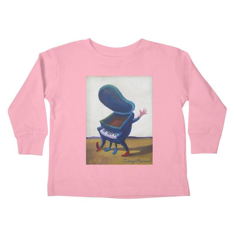 Small blue piano Kids Toddler Longsleeve T-Shirt by diegomanuel's Artist Shop