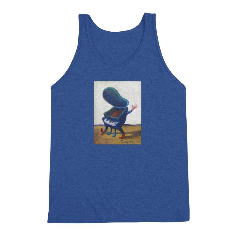 Small blue piano Men's Triblend Tank by diegomanuel's Artist Shop