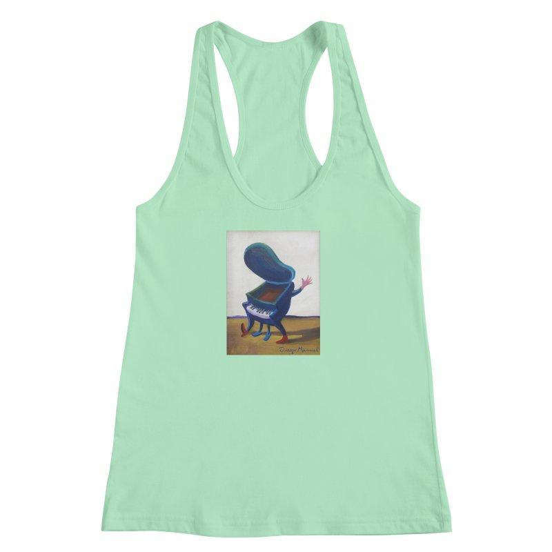Small blue piano Women's Racerback Tank by diegomanuel's Artist Shop