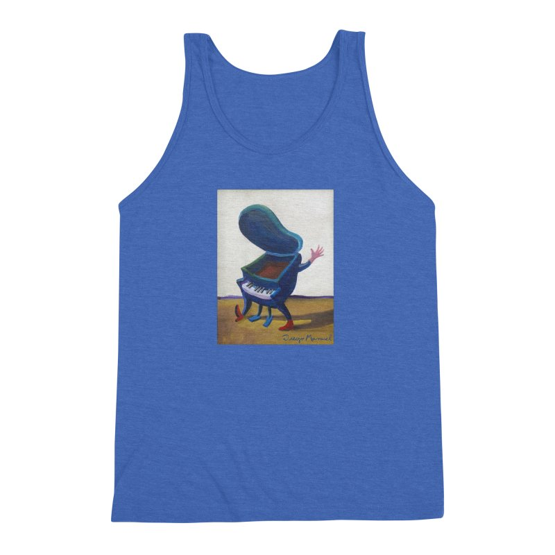 Small blue piano Men's Triblend Tank by diegomanuel's Artist Shop