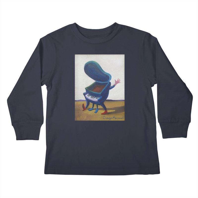 Small blue piano Kids Longsleeve T-Shirt by diegomanuel's Artist Shop