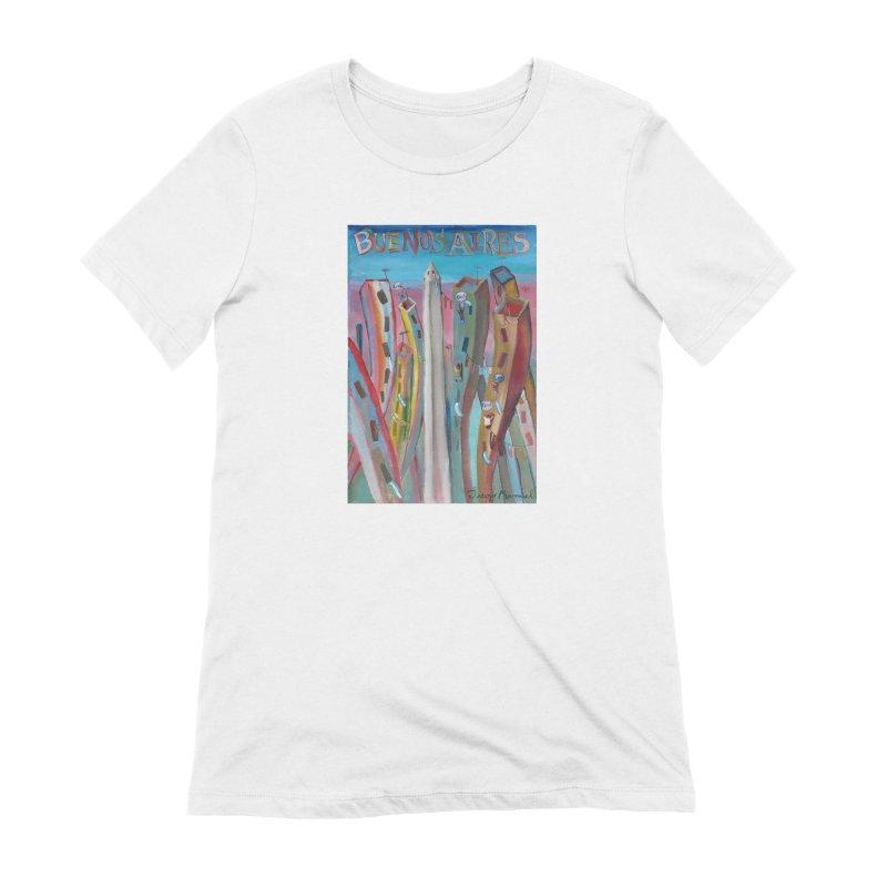 Buenos Aires goal! Women's Extra Soft T-Shirt by diegomanuel's Artist Shop