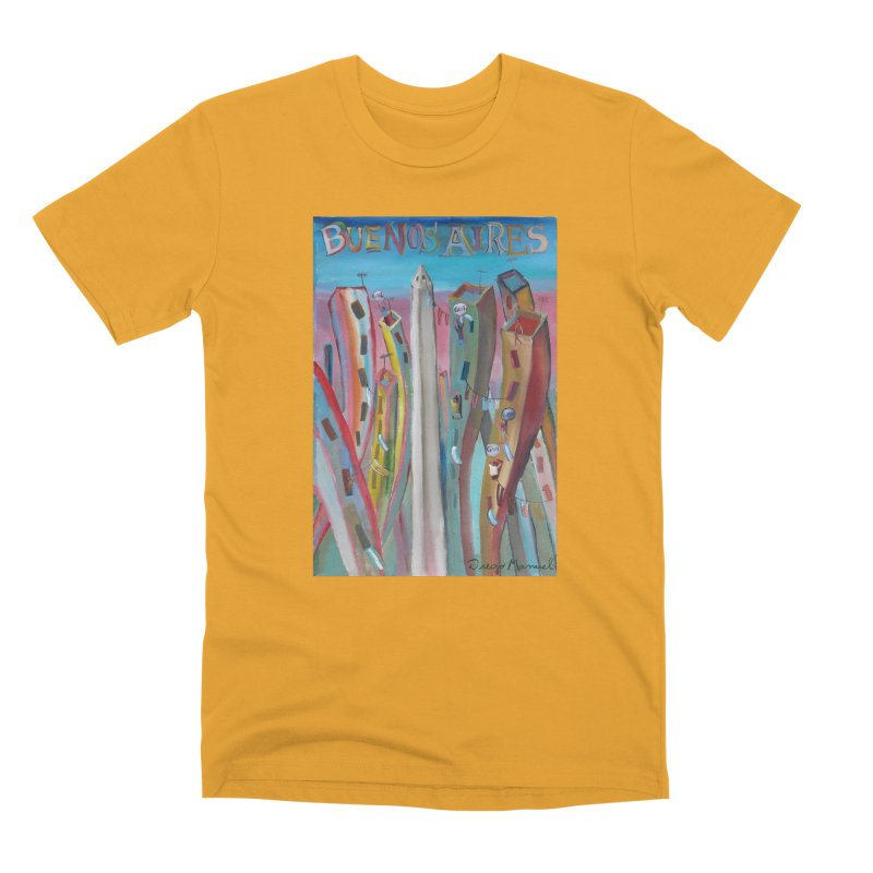 Buenos Aires goal! Men's Premium T-Shirt by diegomanuel's Artist Shop