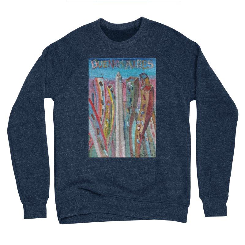 Buenos Aires goal! Men's Sponge Fleece Sweatshirt by diegomanuel's Artist Shop