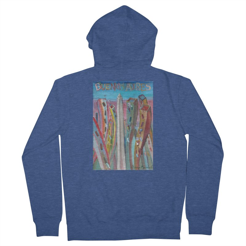 Buenos Aires goal! Women's French Terry Zip-Up Hoody by diegomanuel's Artist Shop