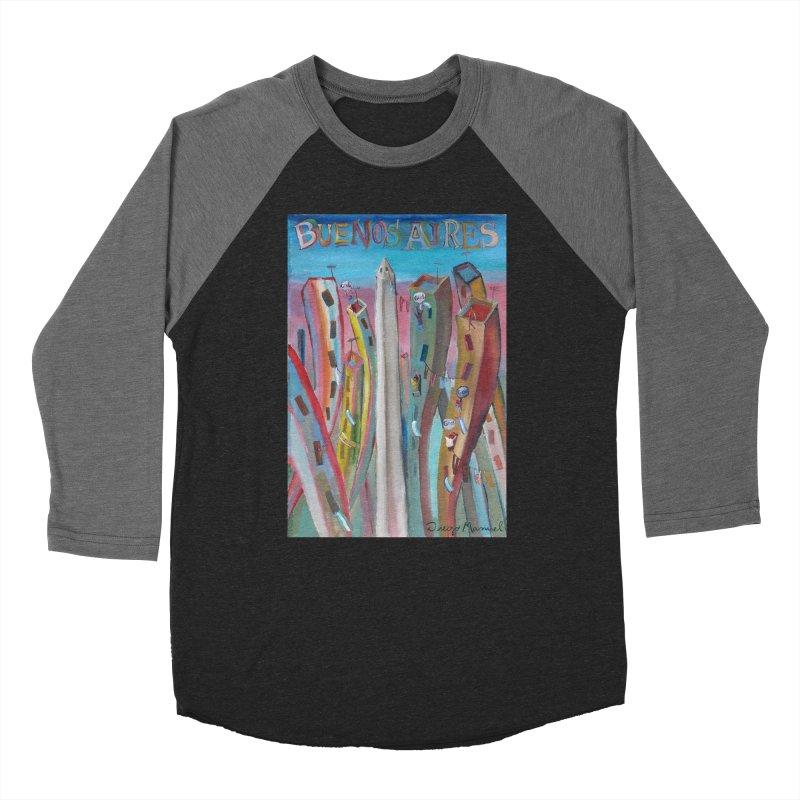 Buenos Aires goal! Women's Baseball Triblend Longsleeve T-Shirt by diegomanuel's Artist Shop