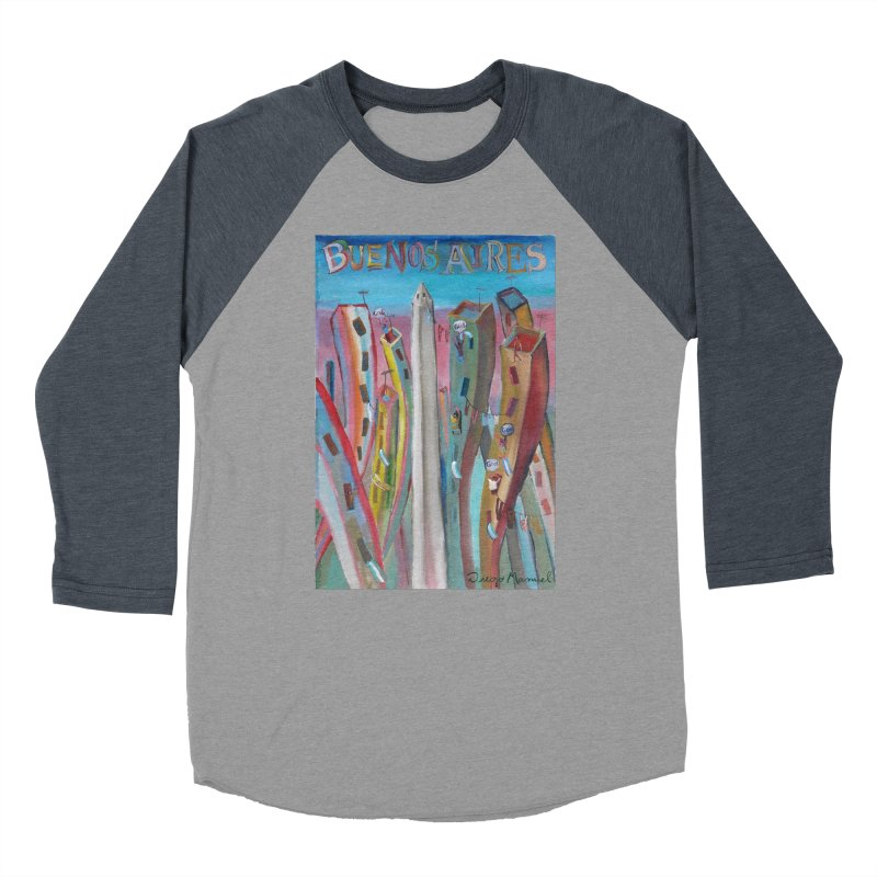Buenos Aires goal! Men's Baseball Triblend Longsleeve T-Shirt by diegomanuel's Artist Shop