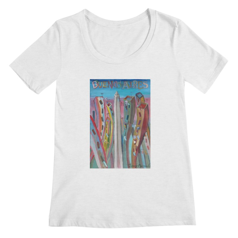 Buenos Aires goal! Women's Regular Scoop Neck by diegomanuel's Artist Shop
