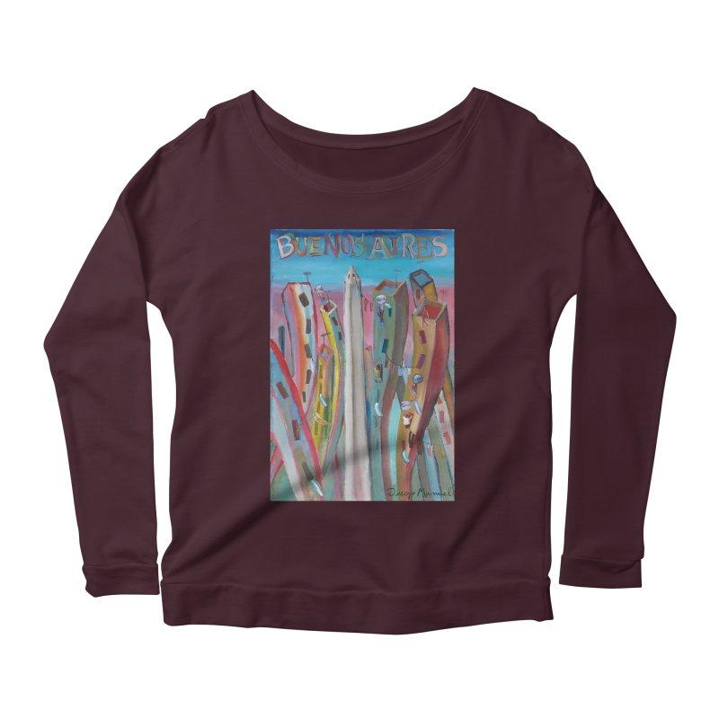 Buenos Aires goal! Women's Scoop Neck Longsleeve T-Shirt by diegomanuel's Artist Shop
