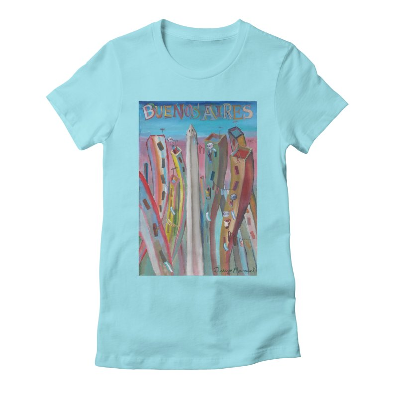 Buenos Aires goal! Women's Fitted T-Shirt by diegomanuel's Artist Shop