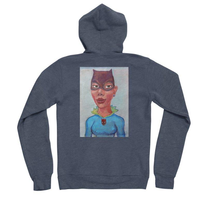 Girl in a cat suit Men's Sponge Fleece Zip-Up Hoody by diegomanuel's Artist Shop