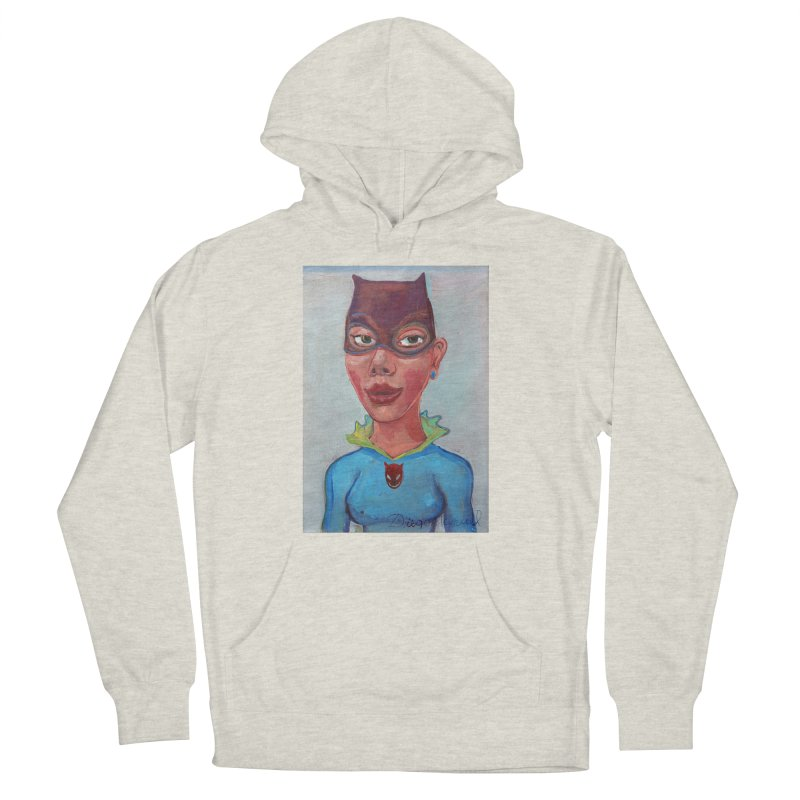 Girl in a cat suit Men's French Terry Pullover Hoody by diegomanuel's Artist Shop