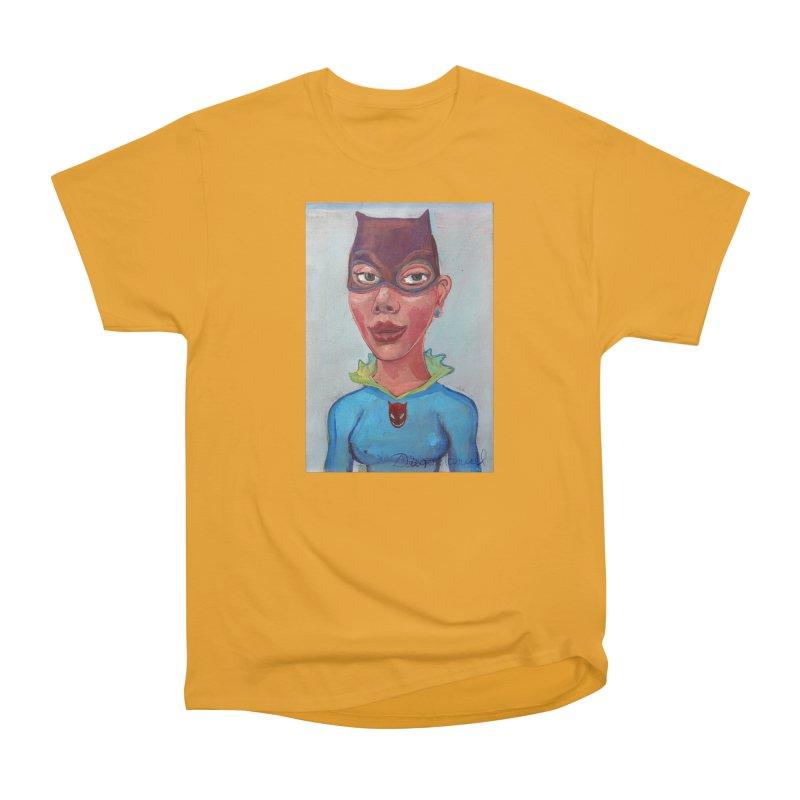 Girl in a cat suit Men's Heavyweight T-Shirt by diegomanuel's Artist Shop