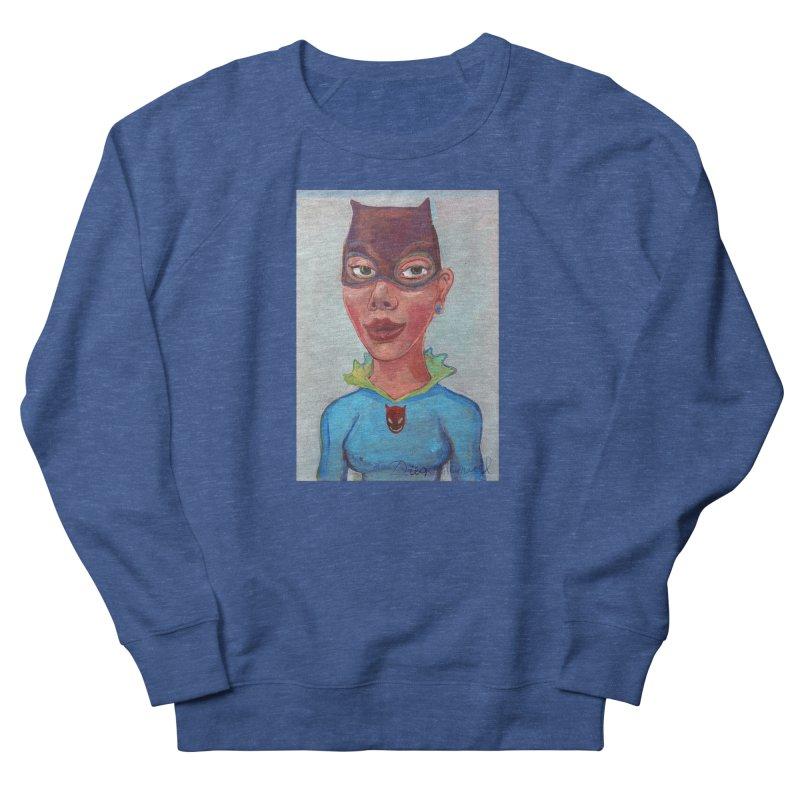 Girl in a cat suit Men's French Terry Sweatshirt by diegomanuel's Artist Shop