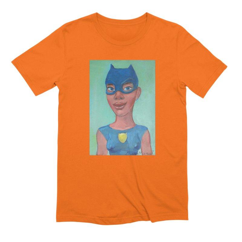 girl in a cat suit 2 Men's Extra Soft T-Shirt by diegomanuel's Artist Shop