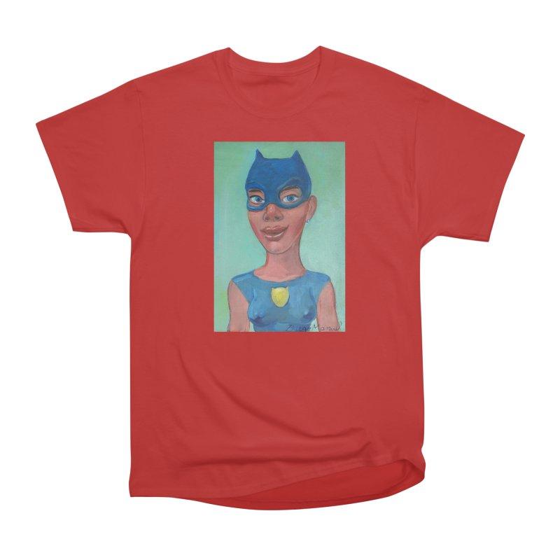 girl in a cat suit 2 Women's Heavyweight Unisex T-Shirt by diegomanuel's Artist Shop