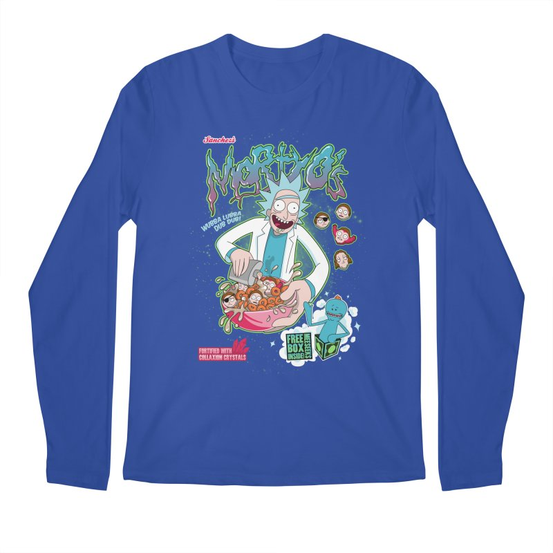 Mortyo's Spacey Cereals Men's Longsleeve T-Shirt by Diego Pedauye's Artist Shop
