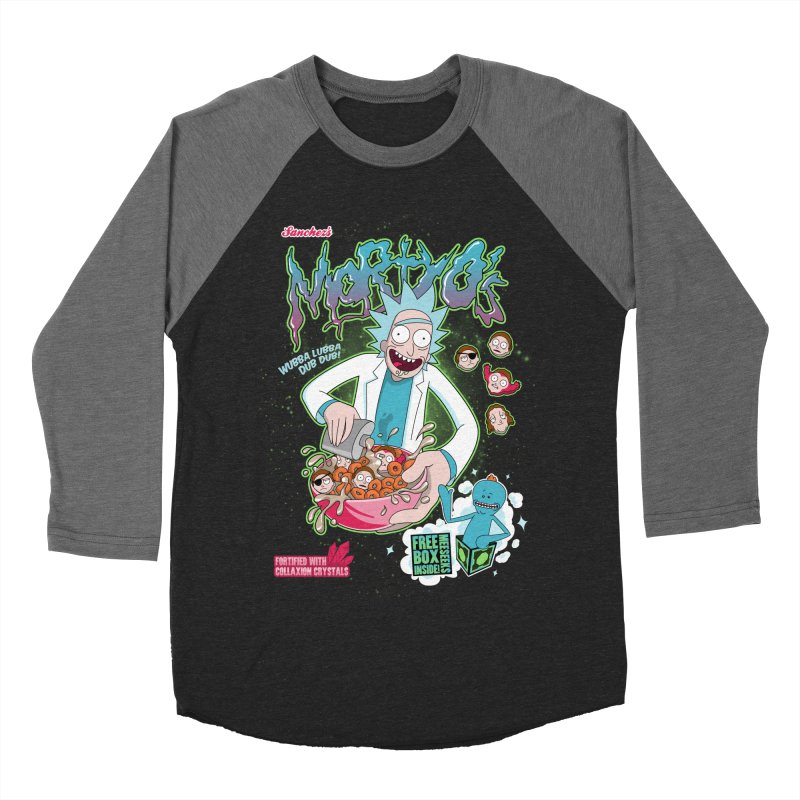 Mortyo's Spacey Cereals Men's Baseball Triblend T-Shirt by Diego Pedauye's Artist Shop
