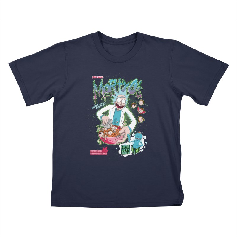 Mortyo's Spacey Cereals Kids T-shirt by Diego Pedauye's Artist Shop