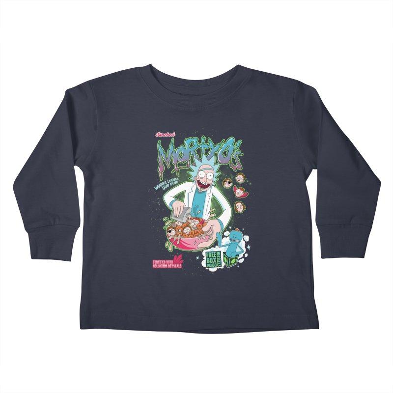 Mortyo's Spacey Cereals Kids Toddler Longsleeve T-Shirt by Diego Pedauye's Artist Shop