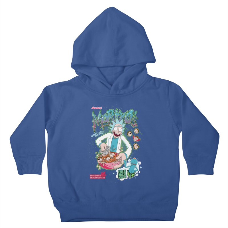 Mortyo's Spacey Cereals Kids Toddler Pullover Hoody by Diego Pedauye's Artist Shop
