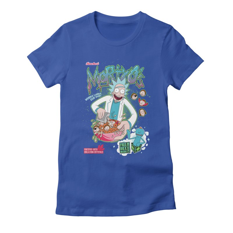 Mortyo's Spacey Cereals Women's Fitted T-Shirt by Diego Pedauye's Artist Shop