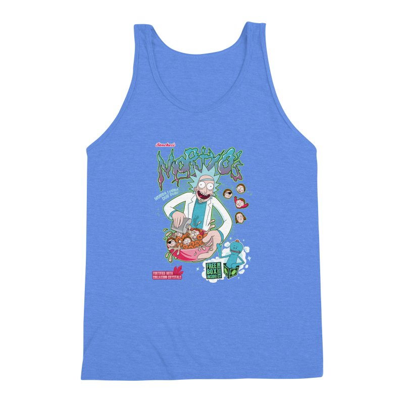 Mortyo's Spacey Cereals Men's Triblend Tank by Diego Pedauye's Artist Shop