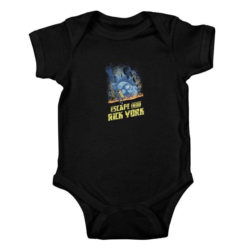 Escape from Rick York Kids Baby Bodysuit by Diego Pedauye's Artist Shop