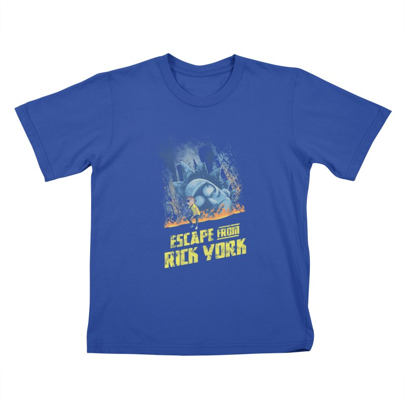 Escape from Rick York Kids T-shirt by Diego Pedauye's Artist Shop
