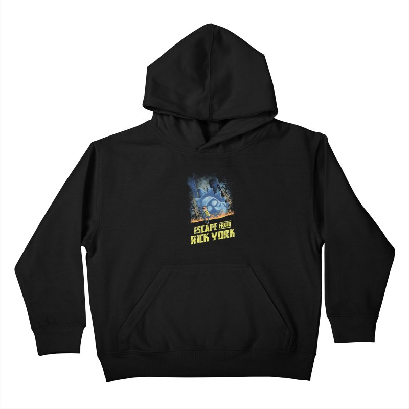 Escape from Rick York Kids Pullover Hoody by Diego Pedauye's Artist Shop