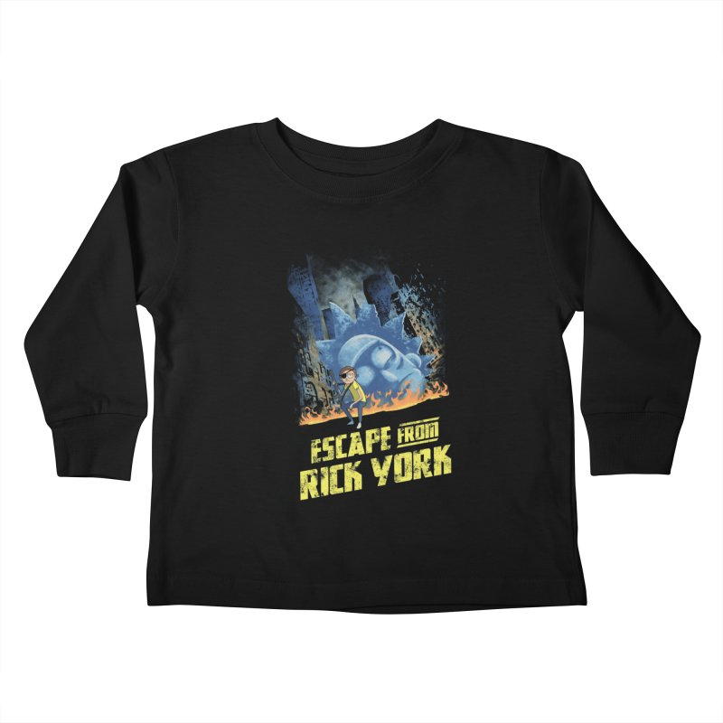 Escape from Rick York Kids Toddler Longsleeve T-Shirt by Diego Pedauye's Artist Shop