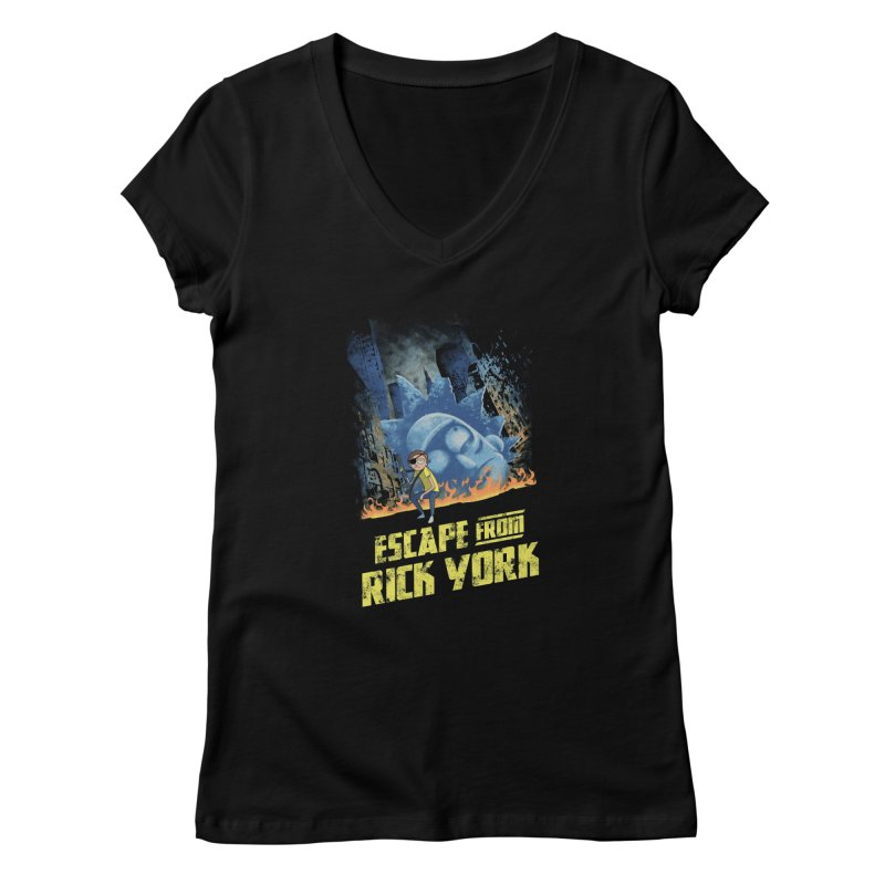 Escape from Rick York Women's V-Neck by Diego Pedauye's Artist Shop