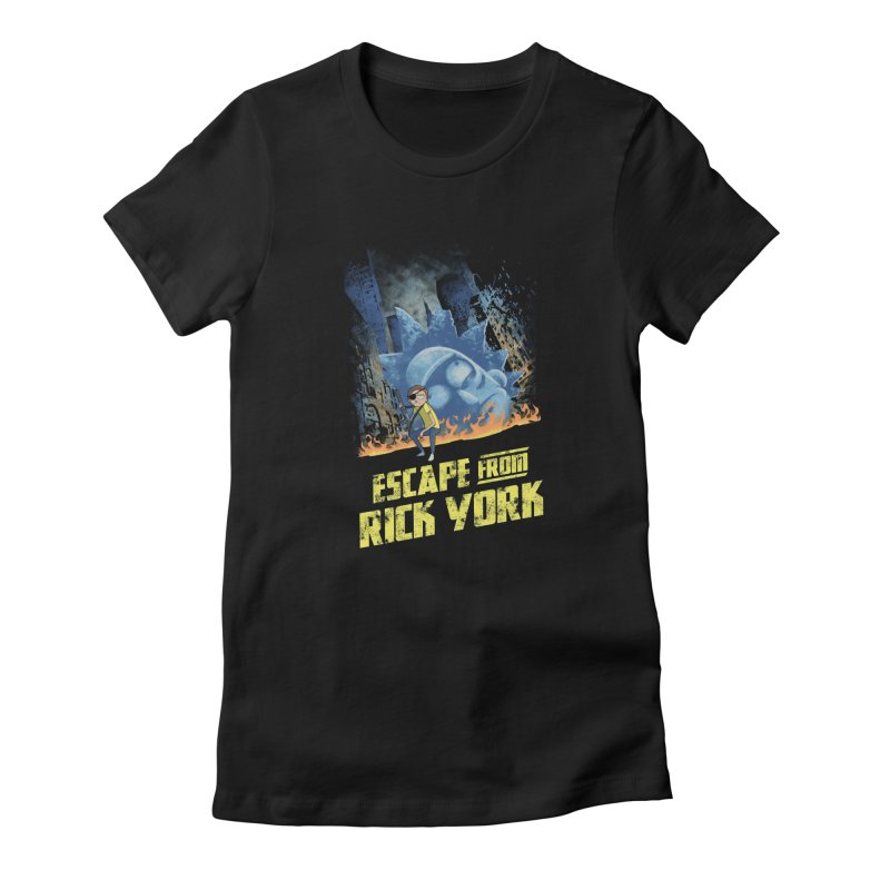 Escape from Rick York Women's Fitted T-Shirt by Diego Pedauye's Artist Shop