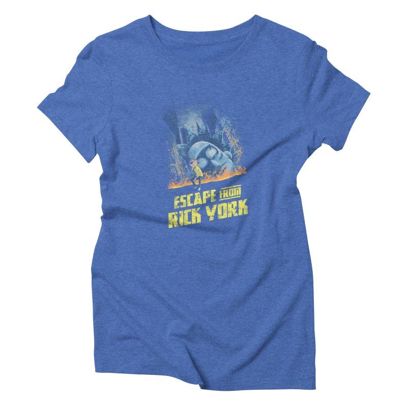 Escape from Rick York Women's Triblend T-shirt by Diego Pedauye's Artist Shop